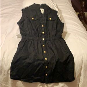 Guess Black Linen w/ Gold Snaps dress